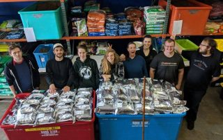 Volunteer day at Fido Pet Food Bank